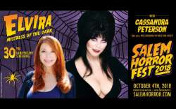 Elvira Headlines October 4th At Salem Horror Fest