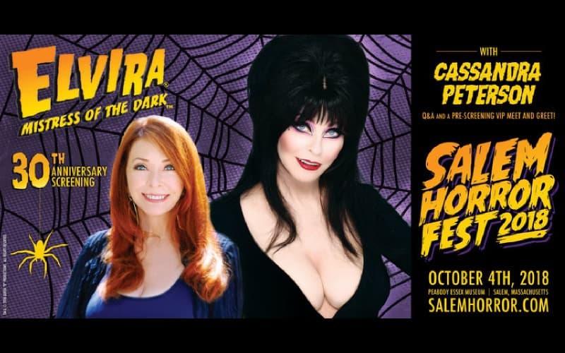 Elvira Headlines October 4th At Salem Horror Fest