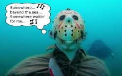 Update: Jason Statue Still In Lake, Missing His Friends