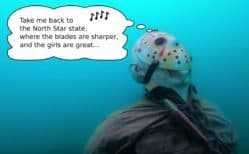 Jason Statue To Be Evicted From Lake